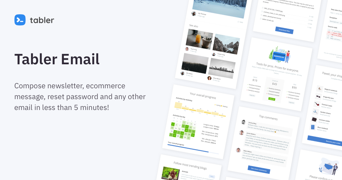 Tabler Email — Responsive Newsletters and Email templates design